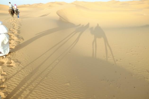 heading toward desert